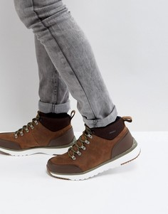 Водонепроницаемые кожаные ботинки UGG Olivert Treadlite - Коричневый