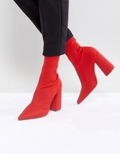 Ботильоны на каблуке Missguided - Красный