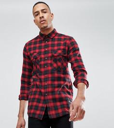 Красная oversize-футболка в клетку Sixth June TALL - Красный