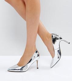 Туфли-лодочки на каблуке для широкой стопы Truffle Collection - Серебряный