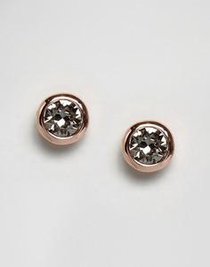 Серьги-гвоздики с камнями Ted Baker Sinaa - Золотой