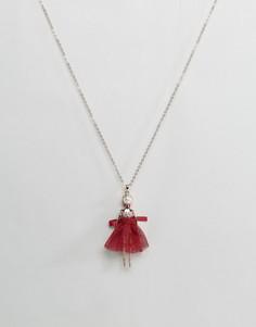 Ожерелье с подвеской-балериной Ted Baker Bijou - Золотой