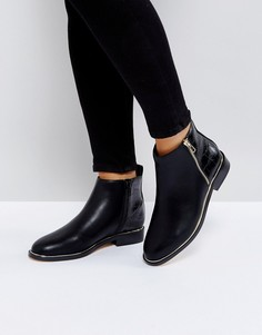 Ботинки с металлической отделкой Office Abbie - Черный