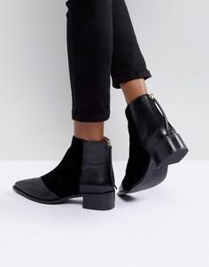 Кожаные ботинки с острым носком Office Amplify - Черный