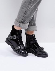 Кожаные ботинки с пряжками Office Asteroid - Черный