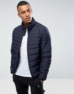 Темно-синяя дутая куртка Celio - Темно-синий