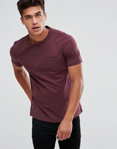 Выбеленная футболка с карманом Celio - Красный
