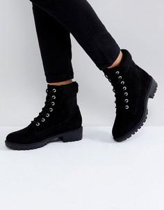 Ботильоны на шнуровке Boohoo - Черный