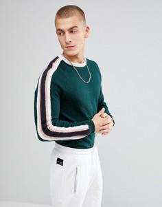 Зеленый джемпер с контрастными полосками ASOS - Зеленый