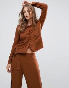 Рубашка в пижамном стиле Minimum - Коричневый