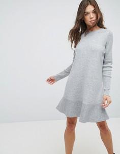 Платье с оборками ASOS - Серый