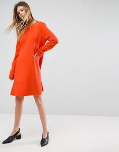 Платье с оборками ASOS - Оранжевый