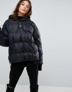 Куртка оверсайз с воротником на молнии Story Of Lola - Черный