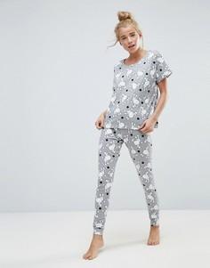 Пижамный комплект с леггинсами и футболкой ASOS - Мульти