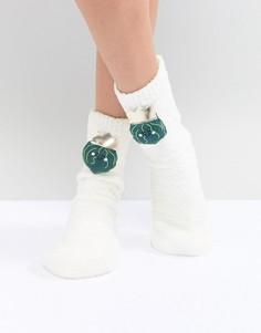 Новогодние носки в подарочной упаковке ASOS - Кремовый