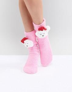 Новогодние носки в подарочной упаковке ASOS - Розовый