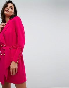 Платье мини в стиле 80-х ASOS - Розовый