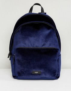Темно-синий бархатный рюкзак Knomo Paddington Bathurst - Синий