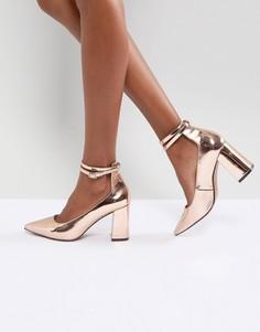 Туфли на высоком каблуке ASOS POPPET - Золотой