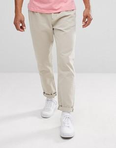 Светло-бежевые джинсы с двойными складками ASOS - Светло-бежевый