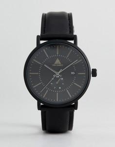 Черные матовые часы с окошком даты ASOS - Черный