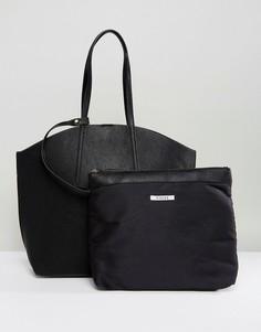 Сумка-шоппер с отстегивающимся кошельком Pieces - Черный
