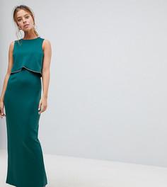 Платье макси ASOS PETITE - Зеленый