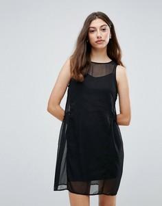 Сетчатое платье Pieces Eila - Черный