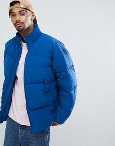 Синяя дутая куртка оверсайз ASOS - Синий