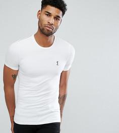 Обтягивающая футболка с круглым вырезом Religion Tall - Белый