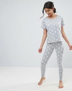 Пижамная футболка и леггинсы со звездным принтом ASOS - Мульти