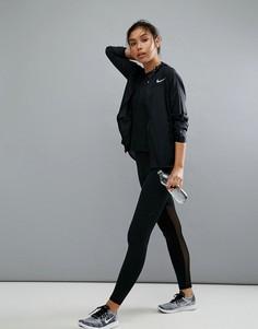 Черные леггинсы с карманом Nike Training - Черный
