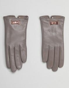Перчатки с бантами Ted Baker - Серый