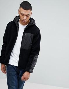 Флисовая куртка на молнии с капюшоном Bellfield - Черный