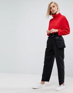 Черные брюки со съемной сумкой-кошельком на пояс ASOS - Черный