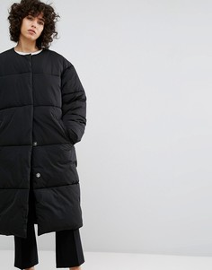 Дутое пальто Weekday - Черный