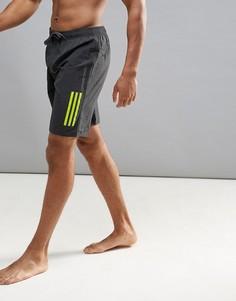 Черные длинные шорты для плавания adidas 3S CD8504 - Черный