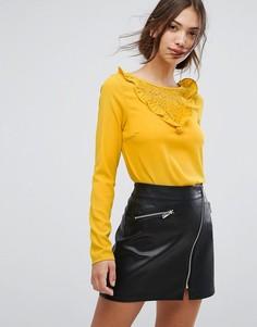 Блузка с оборками Vila - Золотой