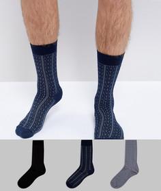 Набор из 3 пар носков в подарочной упаковке ASOS - Мульти