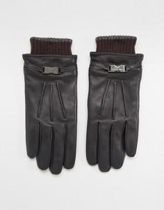 Кожаные перчатки Ted Baker Quiff - Черный