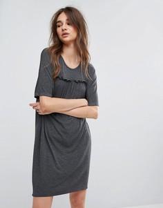 Платье-туника с оборками Noisy May Charlotte - Серый