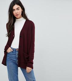 Кардиган с карманами и пуговицами ASOS TALL - Красный