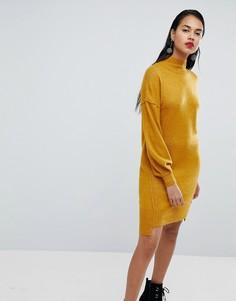 Платье-джемпер с расклешенными рукавами River Island - Желтый