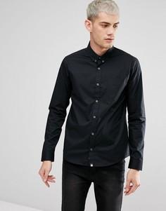 Черная эластичная рубашка с длинными рукавами Pretty Green Phoenix - Черный