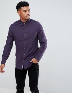 Фиолетовая облегающая оксфордская рубашка Original Penguin - Фиолетовый