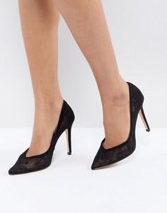 Кружевные туфли-лодочки Lipsy - Черный