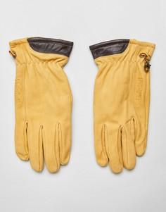Перчатки пшеничного цвета из нубука Timberland - Желтый