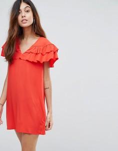 Платье с оборками Vero Moda - Красный