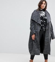 Длинное пальто с леопардовым принтом Religion Plus - Серый