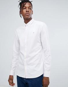 Сиреневая оксфордская рубашка узкого кроя Farah Brewer - Фиолетовый